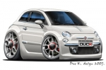 FIAT 500 cartoon car 4