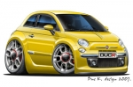 FIAT 500 cartoon car 6
