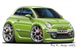 FIAT 500 cartoon car 7