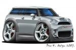 Mini Clubman cartoon car 3