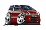 twingo dark red
