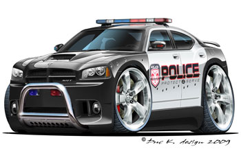 Dodge Charger cartoon car