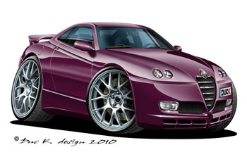 ALFA ROMEO cartoon car