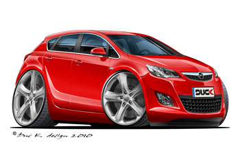 OPEL ASTRA CARTOON CAR