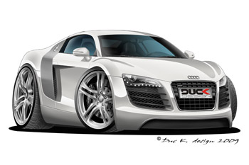 AUDI R8 cartoon car