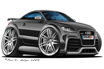 AUDI TT RS cartoon car