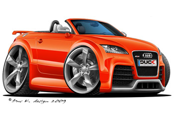 AUDI TT RS ROADSTER cartoon car