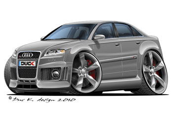 AUDI RS4   cartoon car