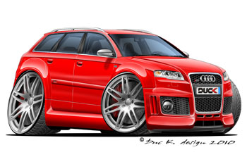 AUDI RS4 AVANT  cartoon car