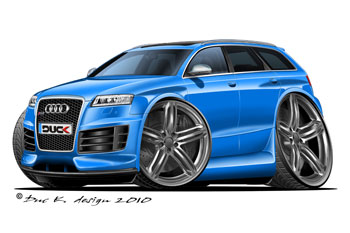 AUDI RS6 AVANT cartoon car