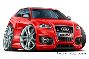 AUDI S3 cartoon car