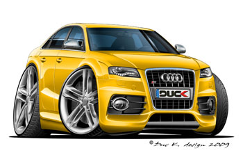 AUDI S4 cartoon car