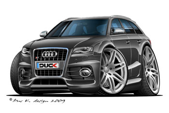 AUDI S4 avantcartoon car