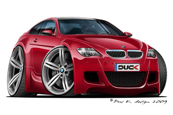 BMW M6 cartoon car