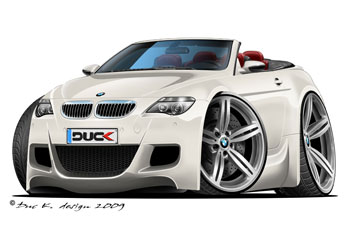 BMW M6 convertible cartoon car