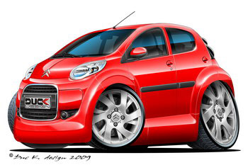 Citroen C1 cartoon car