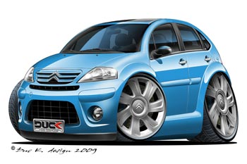Citroen C3 cartoon car