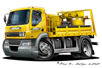 DAF cartoon truck