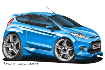 Fiesta Zetec S cartoon car