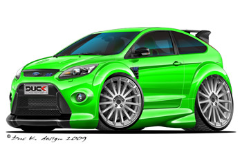 FOCUS RS cartoon car