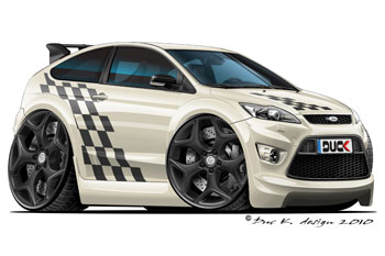 FORD FOCUS ST cartoon car