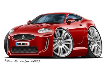 JAGUAR XKR cartoon car