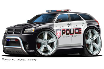 Dodge Magnum cartoon car