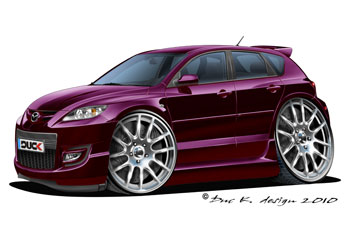mazda 3 mps   cartoon car