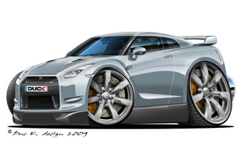 NISSAN GTR cartoon car