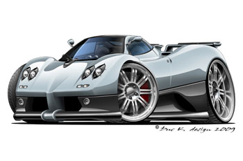 PAGANI ZONDA cartoon car