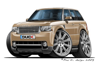 RANGE ROVER cartoon car