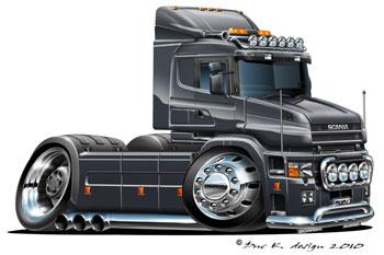 Scania T-cab cartoon truck