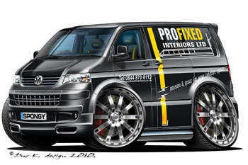 VW TRANSPORTER T5 cartoon car