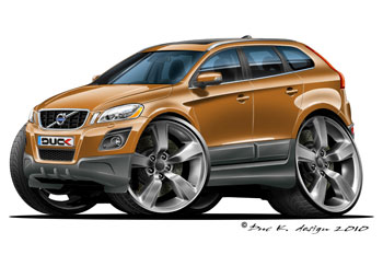 VOLVO XC 60 CARTOON CAR