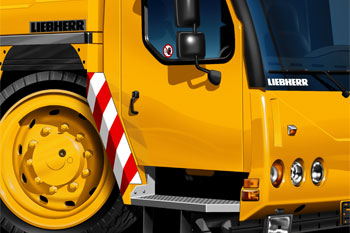 LIEBHERR cartoon truck