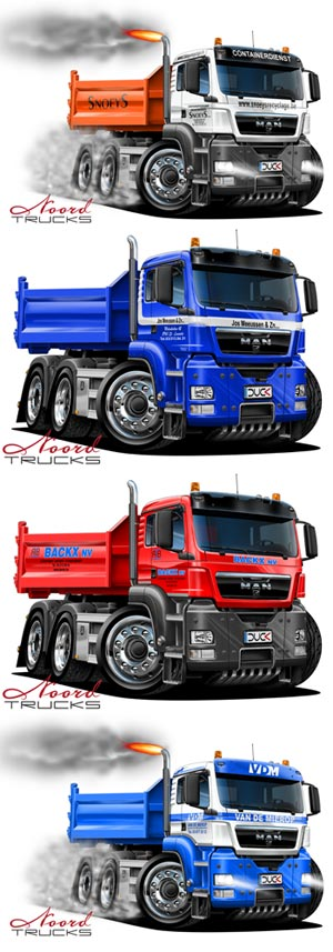 MAN cartoon trucks