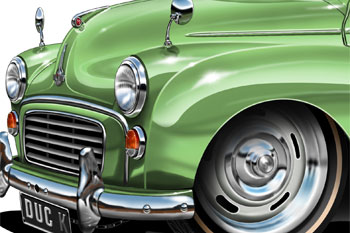 Morris Minor cartoon