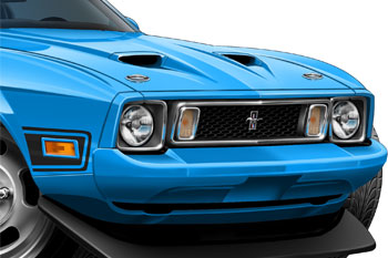 73 Mustang Mach 1 cartoon car