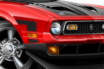 71 Mustang BOSS 351 cartoon car
